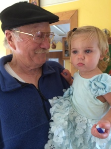 My Dad and my Granddaughter...Passing on the legacy